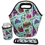 [レイジードッグ]Lazy Dog Warehouse Neoprene Lunch Bag Insulated Lunch Tote Bags for &Lunch Boxes for Kids &Adults [並行輸入品]