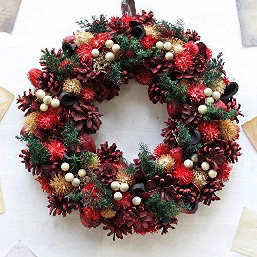 グランドグルー クリスマスリース ドライフラワー 玄関飾り ...