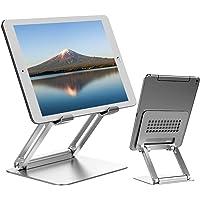 タブレット スタンド ipad スタンド 折りたたみ式 ホルダー 高さ角度調整可能 アルミ製 姿勢改善 人間工学設計 i…