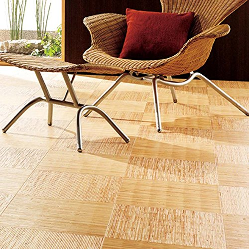 木目調 汚れに強い ダイニングラグ 182x240cm 3畳 籐(トウ)市松 (東リ製生地使用)