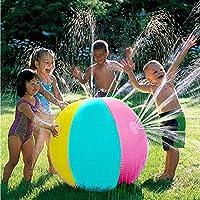 Cozyswan インフレータブル 水スプレーボール 水遊び ウォーター ボール 噴水シャワーボール アウトドア プレイ ボール 夏の日 size ビーチボール+ポンプ