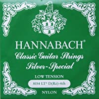 HANNABACH E8154 LT-Green D 4弦 クラシックギターバラ弦 4弦×6本セット