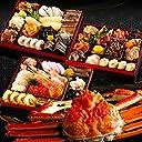 【販売開始】12月31日(月)着 北海道の高級海鮮おせち 【蟹付き】 ~あつもり~ 4人前 盛り付け済