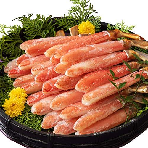 お刺身で食べられる ズワイガニ 太脚棒肉100% プレミアムポーション 1kg40本(20本×2) ギフト カニ かに 蟹