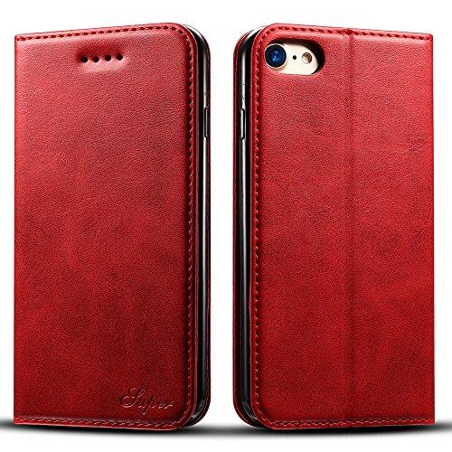 iPhone8 ケース 手帳型 横置きスタンド機能 カードホ...