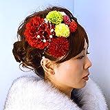 髪飾り 女性レディース選べる髪飾り8本セット 14タイプ/10(エンジ)