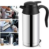 12/24V 750ML 車用ポット 車載電気ポット カーポット 保温ボトル ステンレス製大容量 ボトル電気ケトル 旅行用 カップラーメンに コーヒーに 乳児のミルク作りに! (12V 750ml)