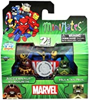 Marvel Minimates Exclusive Juggernaut As Kuurth & Hulk As Nul