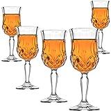 Amlong Crystal Lead Free Cordial Glasses - 5 oz, Set of 6