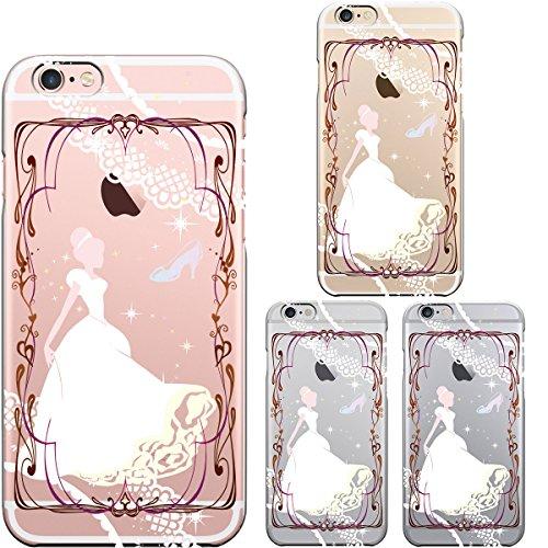 iPhone6 Plus iPhone6S Plus アイフォン ハード クリアケース カバー シェル ジャケット 保護フィルム付 シンデレラ 2
