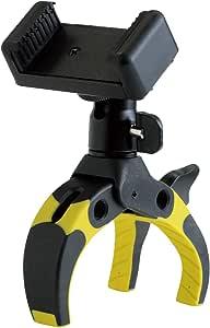 Mobile-Catch パワークランプ King of Kings Edition YELLOW 開脚幅0~75mm 自由雲台付属 スマートフォンホルダー付属 プラスチック製 390257