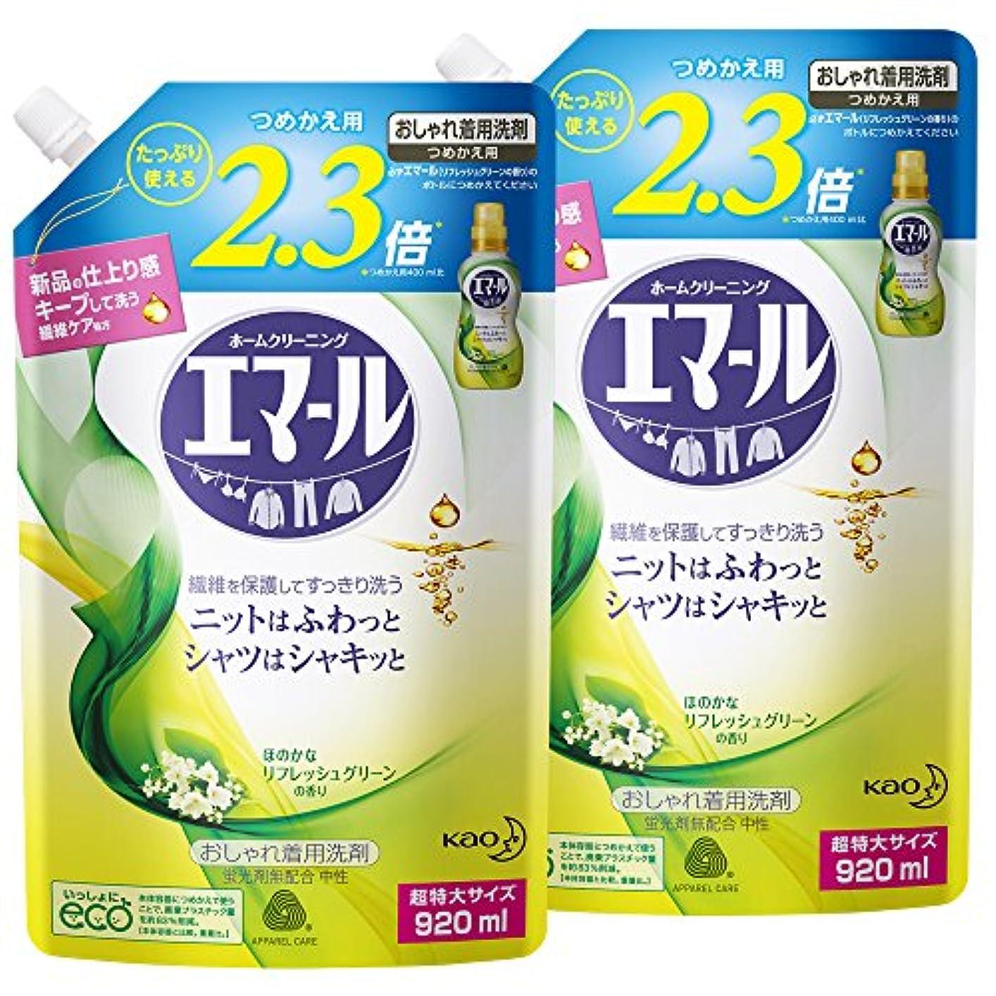 補足ブラケットガロン【まとめ買い】エマール リフレッシュグリーンの香り 詰替用 920ml×2個