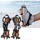 Yosoo アイゼン 10本爪 アイススパイク チェーン アウトドア スパイク スノースパイク キャンプ 登山 釣り 滑…