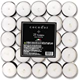 Cocod'or Scented Tealight Candles 100 Pack, Open Window, 5-8 Hour Extended Burn Time, Made In Italy