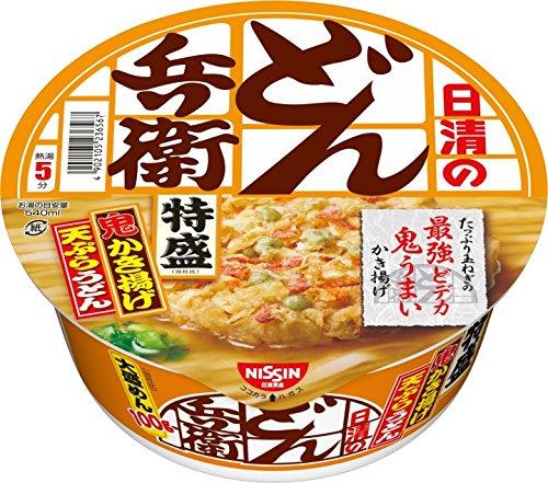 日清食品 日清のどん兵衛 特盛かき揚げ天ぷらうどん 138g×12個