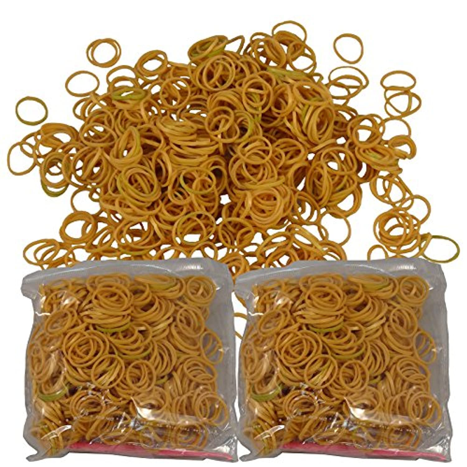 1200 Piece Gold Rubber Band and S-Clips Loom Art and Craft Kids Rainbow Bracelet Refill Pack by Bluedot Trading