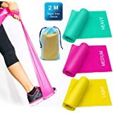 3 Pack Resistance Exercise Band Set, 2 m x 15 cm Elastic Flat Resistance Bands, Heavy Strength Fitness Bands for Pilates, Gym