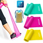 3 Pack Resistance Exercise Band Set, 2 m x 15 cm Elastic Flat Resistance Bands, Heavy Strength Fitness Bands for Pilates...