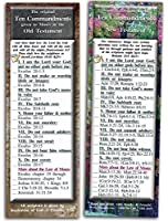 Bible Verse Cards by eThought - The Ten Commandments - Pack of 25 Bookmark Size Cards - The Commandments in the Old Testament references in the New Testament [並行輸入品]