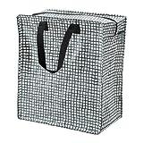 IKEA KNALLA ショッピングバッグ ブラックホワイト