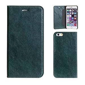 iPhone6sPlus iPhone6Plus ケース 手帳型 カバー カード収納 マグネティック / グリーン