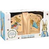 Beatrix Potter PO1236 Peter Rabbit Wooden Bookends, Multi