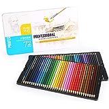 色鉛筆 72色 水彩 水溶性 水性 子供 大人の塗り絵用 漫画 スケッチ用 アート鉛筆 プレゼント用 画材セット収納ケース付属