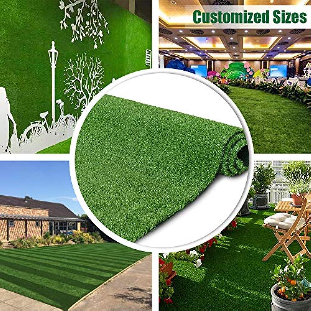 しつけ礼儀ガードPetgrow リアル 人工芝 ロール 芝生 芝丈10mm (1×5m) グリーン 緑 耐UV インテリア 庭 壁装飾 室内外 高品質 高密度 玄関 ベランダ カーペット マット