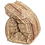 昭和西川 国産 羽毛 布団 シングル CH682柄 ピンク 長白ホワイトグースダウン90% 増量1.3kg ダウンパワー380dp以上 60超長綿 二層(ツイン)キルト 国内パワーアップ加工
