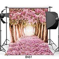 GooEoo 8x10ft写真背景桜ストリートスタジオ写真背景写真の背景美しい花8461