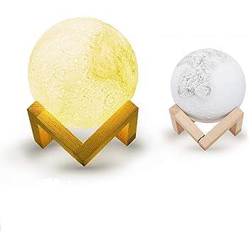 Abida インテリア LEDライト ベッドサイドランプ 3D立体効果 72時間連続照明 間接照明 タッチセンサーライト 一年間保証 無段階調光 雰囲気作り 癒しナイトライト おしゃれなプレゼント USB充電式 三色切り替え直径13cm A13