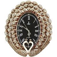 ALUP- アメリカのレトロ樹脂ミュート豪華な壁時計の寝室ホームアート装飾時計