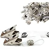 DE Metal Badge Clips with PVC Straps - 100/pack (200)