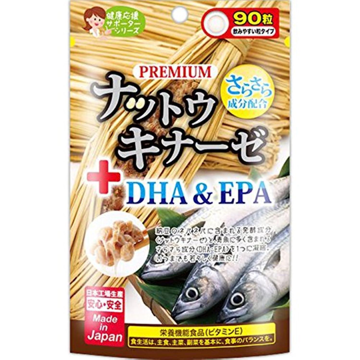 ワイプソーダ水スラックジャパンギャルズ プレミアムナットウキナーゼ+DHA&EPA 90粒×10個セット