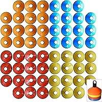 Aoakua ディスク マーカーコーン 全4色 60枚 収納スタンド セット