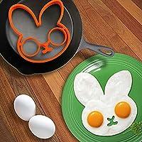 Dryocy(TM)ベストディールの1pcs卵小さい白いウサギの卵シェイパーシリコーン金型の卵リングシリコーン型調理ツール#69838