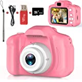 Kids Camera,Children Digital Cameras Kid Action Camera Toddler Video Recorder 1080P IPS 2 Inch,Child Rechargeable Camera with