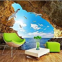 Xueshao 壁布現代の海辺の風景青空自然写真壁画壁紙壁リビングルームテレビの背景壁の装飾-200X140Cm