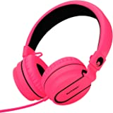 Rockpapa 952 Stereo Foldable Headphones On Ear with Microphone, Adjustable Headband for MP3/4 CD DVD in Car/Airplane Tablets