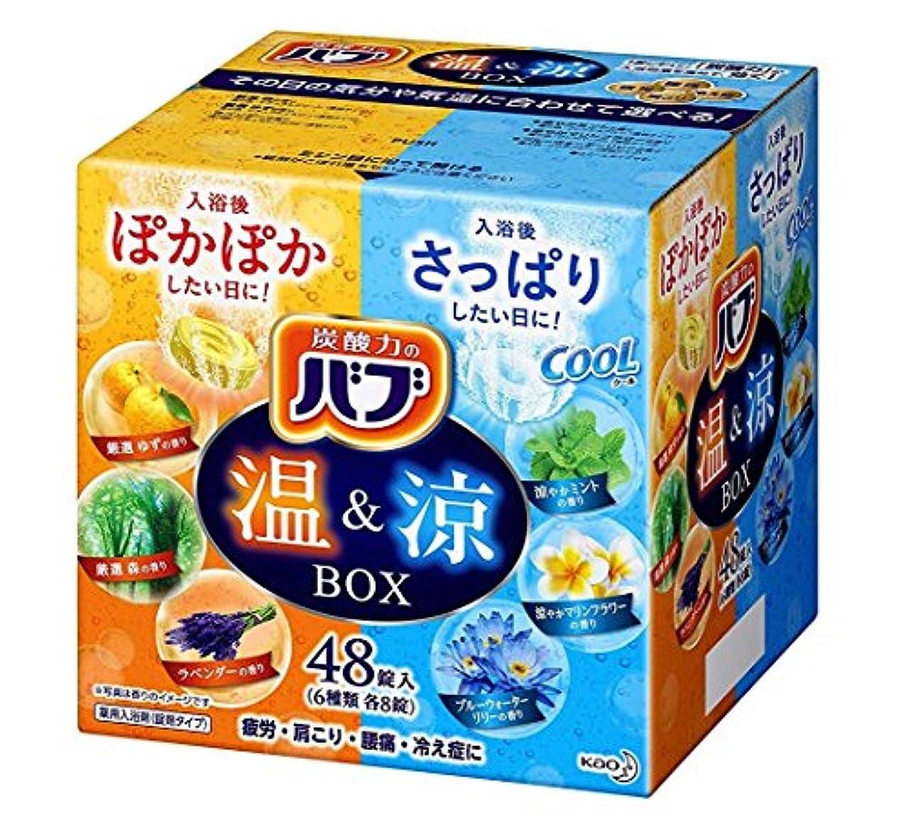 欠かせない城レバー【大容量】バブ 温&涼BOX 48錠 炭酸入浴剤