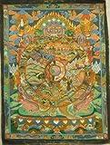 (並行輸入品) アジアン雑貨 ネパール仏画 六道輪廻図(スィーベ・コルロ)