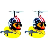 LED Lighting Car Rubber Duck with Helmets Cool Duck (Mode 7)