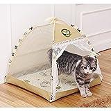 猫犬用 テント ハウス キャット 小屋 かわいい ペット用品 高品質ポリエステル製  マット付き