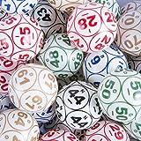 公式professional-use Ping Pong Bingo Balls for電子Bingo Blowersまたは手動Bingo Cages、ホワイト色コーティング12面ピンポンボールセットby Mr。チップ、Inc