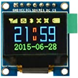 """HiLetgo 0.95"""" Inch 7 Pin Colorful 65K SPI OLED Display Module SSD1331 9664 Resolution for Arduino 51 STM32"""
