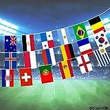 2018ロシアサッカーフットボール旗 スポーツ競技用フラグ 文字列の旗 国際的な旗 旗ペナント・ファン・クラブ用必需品