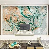 LJJLM カスタム3D壁画壁紙ヨーロッパスタイル現代抽象大理石テクスチャリビングルームテレビ背景壁絵画アート壁紙-200X150CM