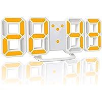 YABAE デジタル時計 LEDデジタル 目覚まし時計 時計 壁掛け 3D led wall clock 置き時計 置時…