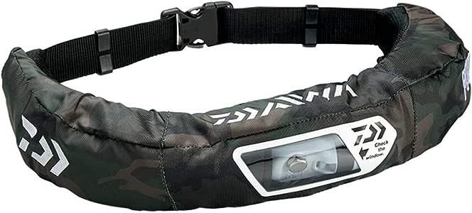 ダイワ(DAIWA) ライフジャケット ウォッシャブル ウエストタイプ手動・自動膨脹式 グリーンカモ フリーサイズ DF-2207