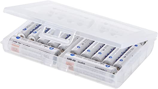 サンワサプライ 電池ケース単3形・単4形対応・クリア DG-BT5C